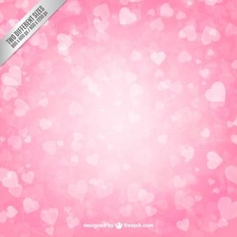 Fondo de corazones rosados