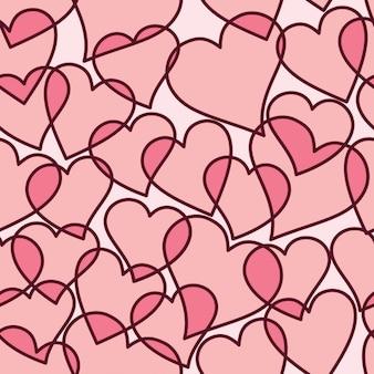 Fondo de corazones rosas