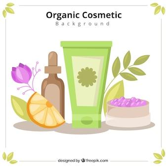 Fondo de cosméticos ecológicos