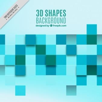 Fondo de cuadrados 3D