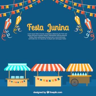 Fondo de decoración de festa junina