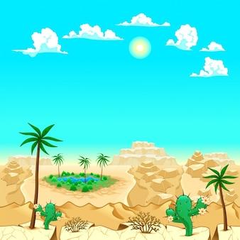 Fondo de desierto a color