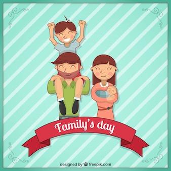 Fondo de día de la familia