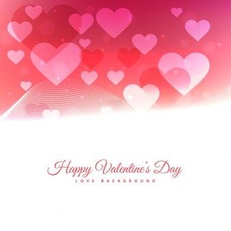 Fondo de Día de San Valentín con corazones flotantes