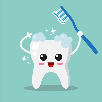 Fondo de diente limpio