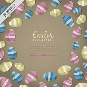 Fondo de diferentes huevos de Pascua