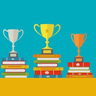Fondo de diseño de trofeos