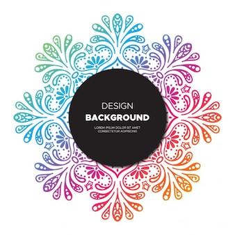 Fondo de diseño floral colorido dibujado a mano