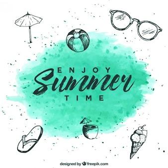 Fondo de disfruta el verano
