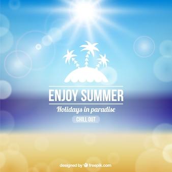 Fondo de disfrute del verano