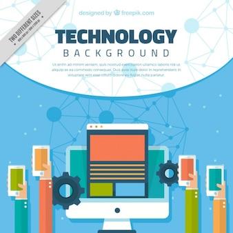 Fondo de dispositivos tecnológicos