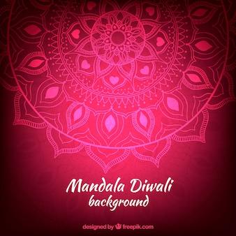 Fondo de diwali rosa