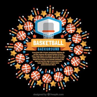 Fondo de elementos de baloncesto