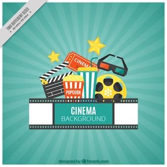 Fondo de elementos de cine