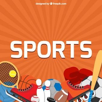 Fondo de elementos de deporte