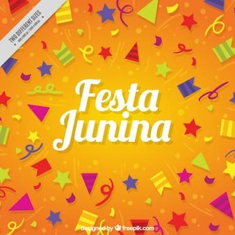 Fondo de elementos de fiesta de fiesta junina