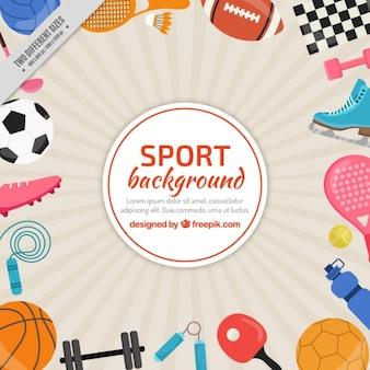Fondo de elementos deportivos