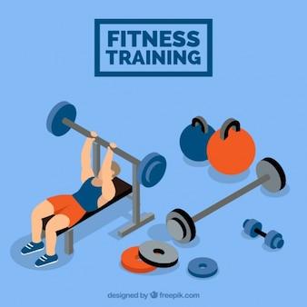 Fondo de entrenamiento en el gimnasio