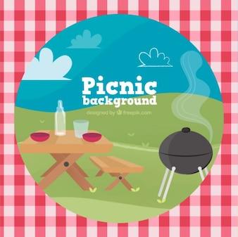 Fondo de escena de picnic
