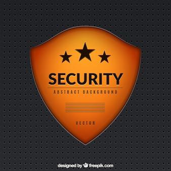 Fondo de escudo de seguridad