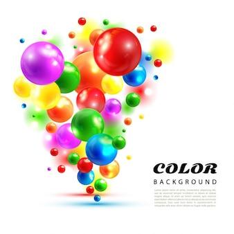 Fondo de esferas coloridas