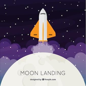 Fondo de espacio con cohete