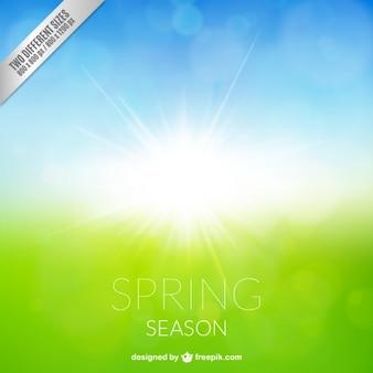 Fondo de estación primavera