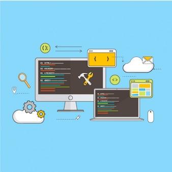 Fondo de estrategia de desarrollo web