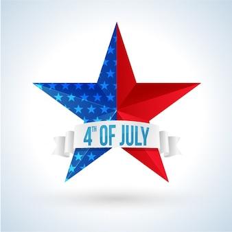 Fondo de estrella decorativa para el día de la independencia