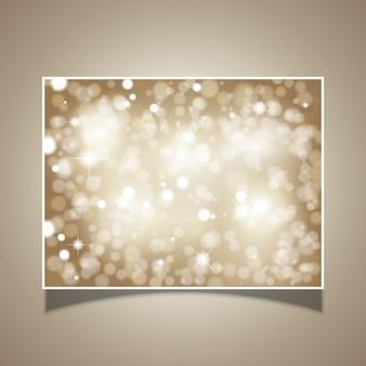 Fondo de estrellas brillantes y luces bokeh