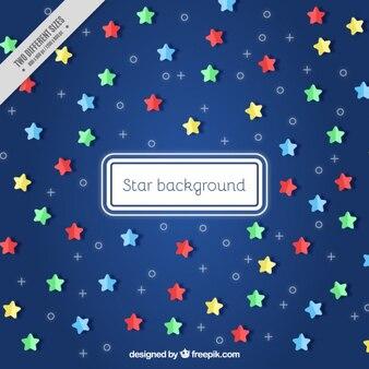 Fondo de estrellas de colores en diseño plano