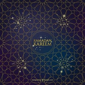 Fondo de estrellas geométricas de ramadan