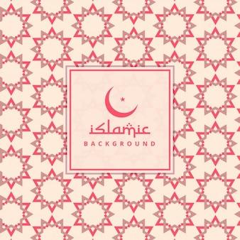 Fondo de estrellas rojas islámicas