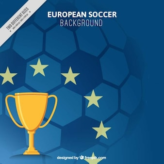 Fondo de eurocopa 2016 con un trofeo