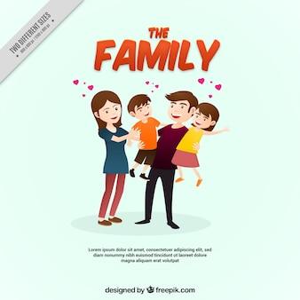 Fondo de familia adorable