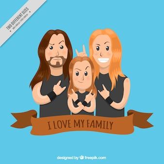 Fondo de familia moderna