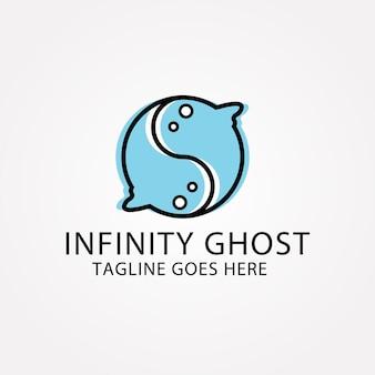Fondo de fantasmas con forma de infinito
