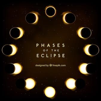 Fondo de fases del eclipse