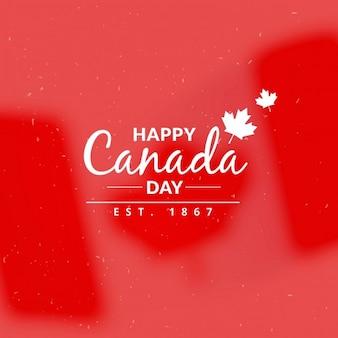 Fondo de felicitación del día de canadá
