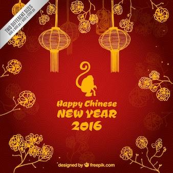 Fondo de feliz año nuevo 2016 chino