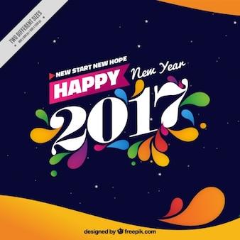 Fondo de feliz año nuevo 2017 con formas abstractas