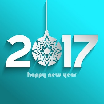 Fondo de feliz año nuevo con bola de navidad