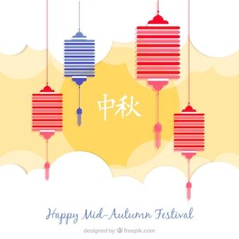 Fondo de feliz festival de medio otoño