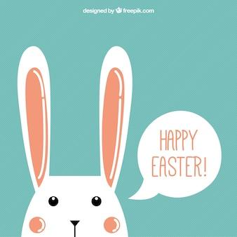 Fondo de feliz Pascua de conejito simpático