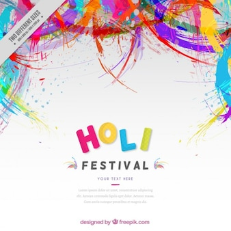 Fondo de festival Holi abstracto de colores