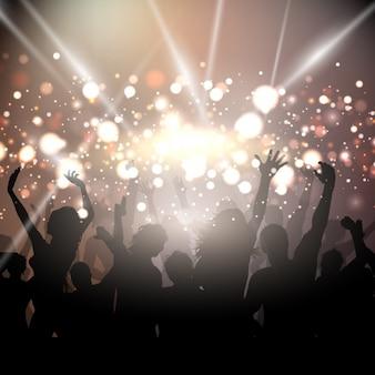 Fondo de fiesta con luces doradas