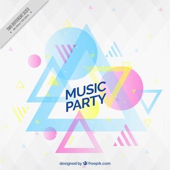 Fondo de fiesta de música con formas geométricas