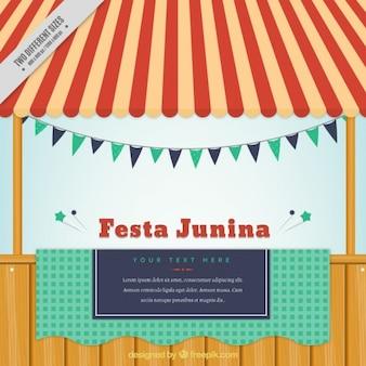 Fondo de fiesta junina de puesto vintage