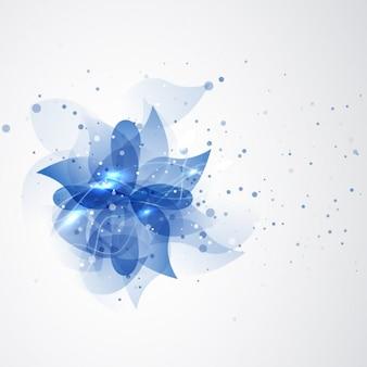 Fondo de flor azul abstracta