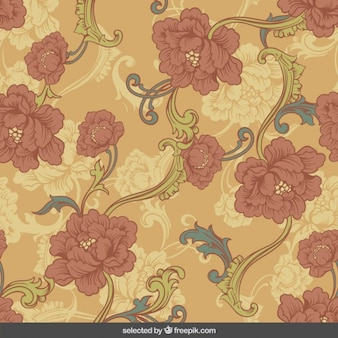 Fondo de flores retro ornamentales
